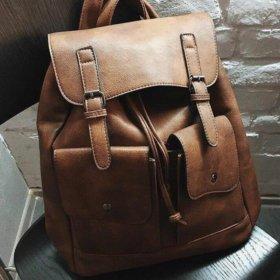 Новый рюкзак (натуральная кожа)