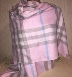 Палантин Burberry розовый
