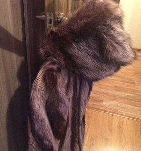Полушубка зимняя из енота