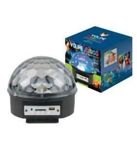 Светильник-проектор МР3, USB, 2 колонки, пульт