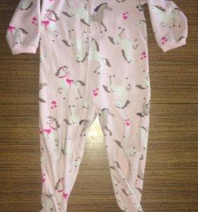 Флисовый комбинезон, пижама
