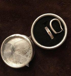 Серьги (позолоченная бижутерия)