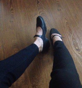 Кожаные балетки/туфли/настоящая кожа