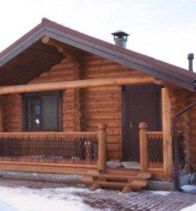 Рубленный Дом ,бревно ,лес,построим дом