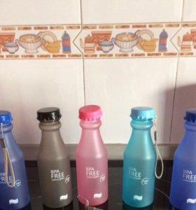 РОЗОВАЯ пластиковая бутылка BRA FREE