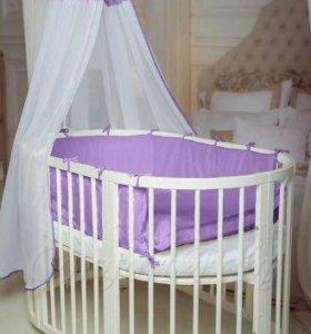 """Детская кроватка-трансформер """"СomfortBaby"""" 6 в 1"""