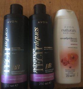 Шампунь и ополаскиватель для волос