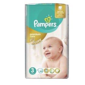 Подгузники Pampers размер 3, 60 шт