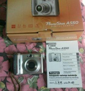 Продам фотоаппарат canon A 550