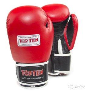 Перчатки боксерские Top Ten Aiba. Новые.
