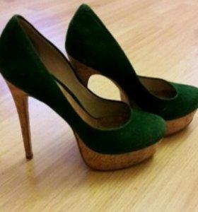 Туфли замшевые кожа натур. Р 37