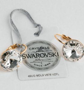 Серьги Rivoli 14 с кристаллами Swarovski