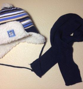 Шапка шарфик комплект( зима)