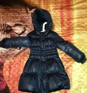 Пальто зимнее на девочку 110