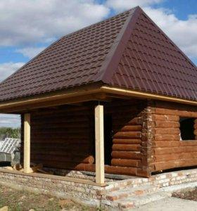 Срубы.Кровля.Строительство деревянных домов
