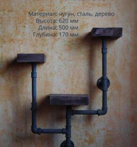 Полка «Сandelabrum» в стиле лофт