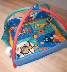Развивающий коврик + игрушки
