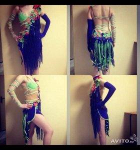 Платье для бальных танцев.Латина