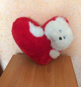 Подушка сердечко, мягкая игрушка.
