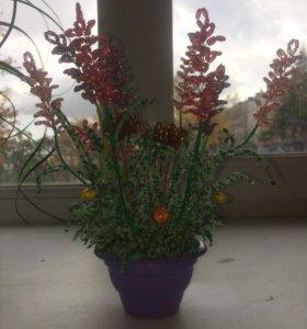 Цветы(из бисера)