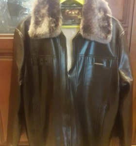 Зимняя новая мужская кожаная куртка