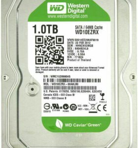 Жесткий диск Western Digital Caviar Green 1 Тб