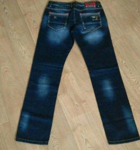 Новые, муж.джинсы. Р. 34