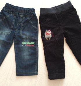 Штаны утеплённые и новые джинсы