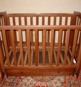 Детская кроватка из натурального дерева (Лель)