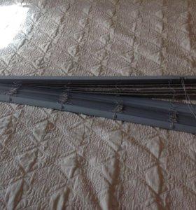Жалюзи серые пластик Ширина 1 м 20см