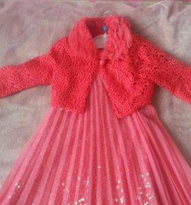 Нарядное платье и болеро для девочки