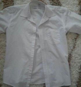 Рубашка белая и синяя