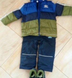 Зимний костюм с обувью на мальчика 12-18 мес.
