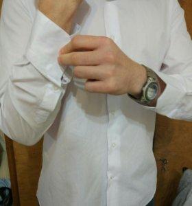 Белая мужская рубашка новая