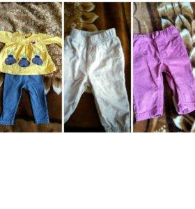 Продаются детские вещи для девочки до 1 года
