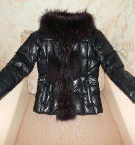 Зимняя куртка (эко кожа, натуральный мех)