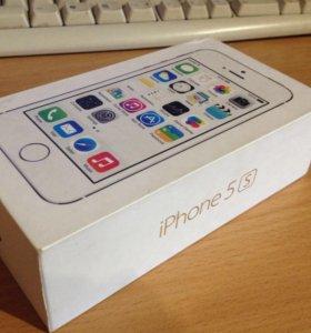 Коробка и чехол от iPhone 5s gold 16 gb