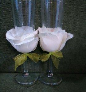 Свадебные бокалы новые