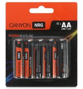 батарейки AA (LR6) 010шт. Canyon