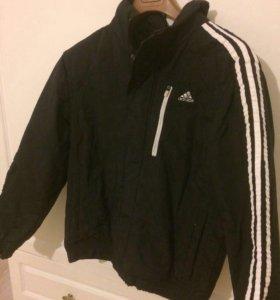 Куртка мужская спортивная чёрная. Adidas.