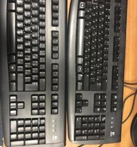 Клавиатура, Logitech , б/у, Много, опт