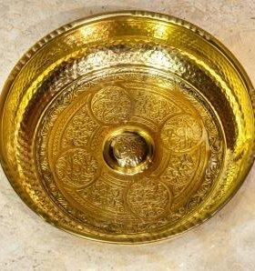 Чаша для турецкой бани ( цвет золото)