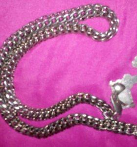 Цепочка,крест,браслет- серебро