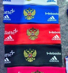 Повязки полоски на голову Adidas 5 цветов