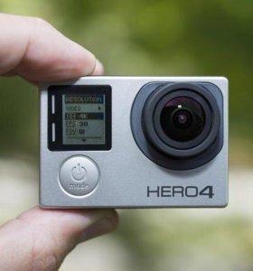 GoPro 4 silver + флешка 64 гб