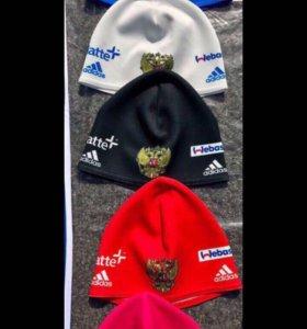 Шапочки Adidas (унисекс) 5 цветов, новые из лайкры
