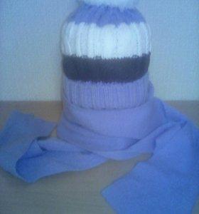 Новая шапка на флисе и шарф