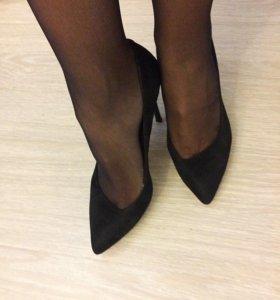 Туфли б/у чёрные