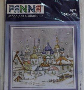 """Набор для вышивания PANNA - """"Снегопад в городе"""""""