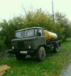Асенизатор газ 66 с клиентами в кузедеево
